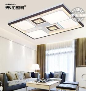 弗阳照明【新品上市】9660长方  109*75厘米三控变光辅光源 现代简约 客厅灯