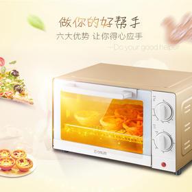 Donlim/东菱多功能电烤箱 家用烘焙 控温蛋糕 周末小聚 百变美食随心烹!