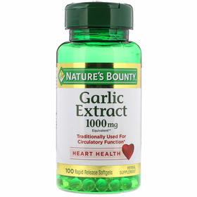 Nature's Bounty, 大蒜萃取物,1,000毫克,100快速释放软胶囊