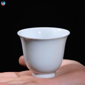 南茗佳人《天青烟舞•柴烧卵白釉》品茗杯