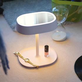 MUID化妆镜台灯 创意LED卧室床头灯 USB充电储物多功能镜子化妆灯