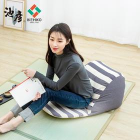 IKEHIKO日本进口纯棉懒人沙发小单人休闲躺椅榻榻米阳台卧室日式
