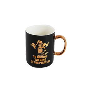 航海王/海贼王onepiece马克杯路飞陶瓷航海王黑色烫金陶瓷杯 黑金马克杯OP8C1408A