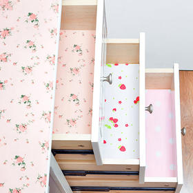 H&3 浅粉色印花防潮EPE橱柜垫45*200cm