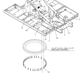 大转盘/齿圈螺栓 SK200/210/SK230/SK250/SK260/SK270D