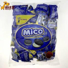 马来西亚阿里巴巴小黑饼干 mini mico  迷你奥利奥夹心  376g   草莓味/奶油味/柠檬味