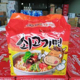 【半岛商城 &货仓直购】韩国进口 三养牛肉风味汤面 5袋/包*600g