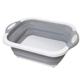【是水槽还是菜板?】抖音可折叠菜板 折叠冰桶多功能折叠菜板 旅行便携盆沥水篮 洗菜盆