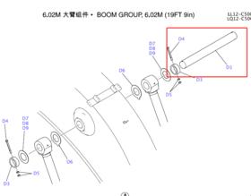 SK250/260大臂油缸销轴【42KG运费到付】