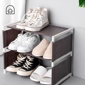 不锈钢鞋架简易家用鞋架子经济型多层收纳鞋柜子宿舍寝室防尘鞋架