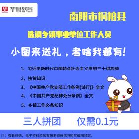 2019年南阳市桐柏县选调乡镇工作人员——资料大礼包