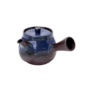 MINOYAKI/美浓烧 日本进口万古窑紫泥茶壶 冰蓝款有票