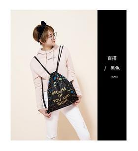 [希夏邦马]韩版潮休闲轻便运动抽绳背包