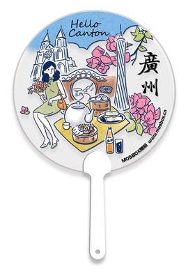 赠品-广州特色透明扇子