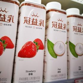 蒙牛冠益乳酸奶450g原味/草莓