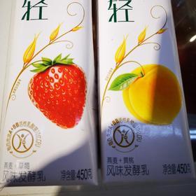 伊利畅轻风味发酵乳450g草莓/黄桃