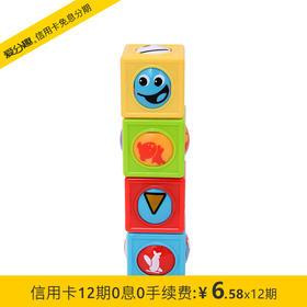 费雪 奇趣积木组积木玩具 婴幼儿早教益智玩具 CBL33 1岁+