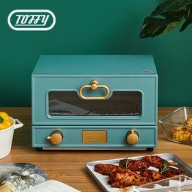 Toffy 日本复古单层烤箱 ins风烘焙多功能家用电烤箱迷你小烤箱 石英管加热