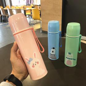 男女学生不锈钢保温杯子儿童可爱卡通小熊兔子韩版便携大容量水杯