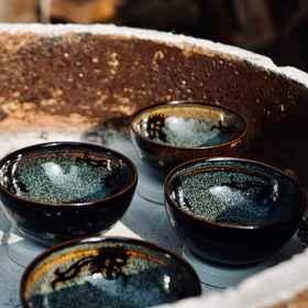 【双11秒杀】吉州古窑不倒翁茶盏 黑釉瓷杯