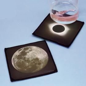 日月主题杯垫 精美原图印刷 防水防烫 防尘 加厚 布制 杯垫