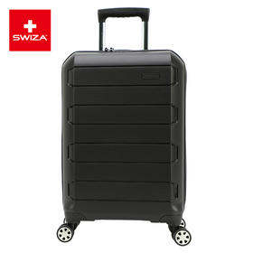 Swiza百年瑞士行李箱商务静音万向轮大容量可扩展拉杆箱男女黑色