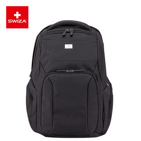 Swiza百年瑞士男士双肩包休闲商务电脑包大容量背包多功能旅行包