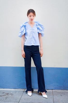 MSYEEYEE 19AW 藏蓝色西裤