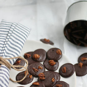 帮卖精选 | 小黑饼 山核桃仁遇上黑芝麻巧克力的美味碰撞 直侵味蕾