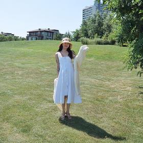 专柜质量原dan面料超显瘦白色牛仔背带裙版型超好售完不补