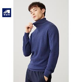 墨麦客男装秋季新款高领纯羊毛男士长袖针织衫休闲宽松毛衣男潮流