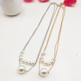 【清仓特价 不退不换】YSSP155A新款韩国网红珍珠锁骨链TZF