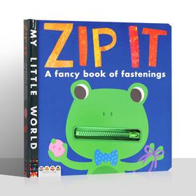 ♫ 盖世童书●可点读●ZlP it 拉链书A First book of fasteners(拉链书)
