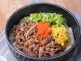 19.8元抢肥牛鱼籽拌饭+韩国饮料套餐!超大块的肥牛、金针菇、洋葱,好吃又不腻!