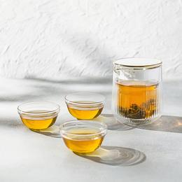 【好巢Wondernest 】玻璃小憩分享壶丨便携式旅行功夫茶具套装丨小罐茶茶具快客杯丨玻璃茶杯便携包式一壶三杯