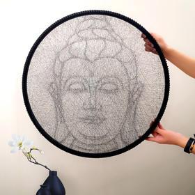 琥珀线绳画——佛系