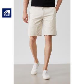 墨麦客男士西装短裤纯棉5分宽松白色短裤男休闲五分裤夏季修身潮