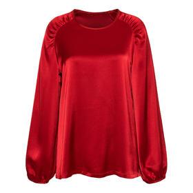 Marie Shirt 絲麻緞上衣