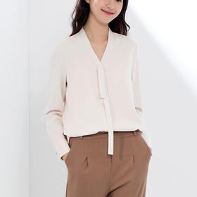 IN AND ON优雅时尚的长袖衬衫   垂坠飘逸舒服柔软,藏肉显瘦不易皱
