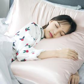 【为思礼】【买枕套赠眼罩】林小眠飞鸟刺绣真丝枕套 滋润养肤 提升睡眠质量 睡出水嫩肌肤 极强吸湿性 调节肌肤水分光滑细腻
