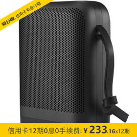 B&O PLAY beoplay P6 无线蓝牙便携式音响/音箱 便携扬声器 户外音响 室内桌面音响 黑色