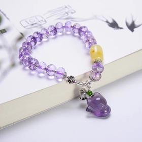 紫气东来*天然紫水晶切面多宝原创手链