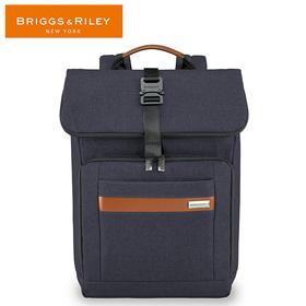 BRIGGS&RILEY布雷格雷利电脑包中号翻盖双肩包15英寸商务休闲背包