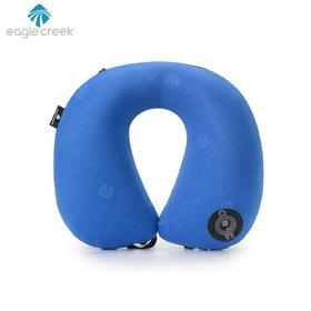美国eaglecreek海洋蓝色充气舒适颈枕出行便携旅行枕 2019年新品
