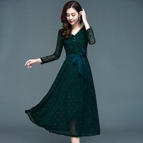 YWE93037KED新款夏韩版修身显瘦气质长袖裙女TZF