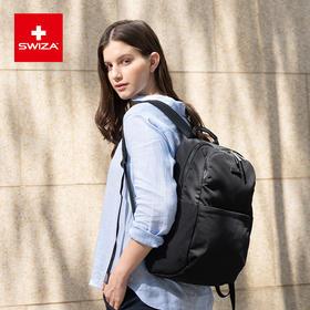 Swiza百年瑞士简约女士双肩包情侣包大容量百搭旅行包淑女背包