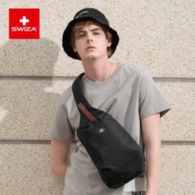 Swiza瑞士潮流胸包男小背包斜挎包单肩包运动包防泼水尼龙小包