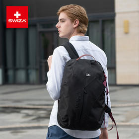 Swiza百年瑞士户外休闲双肩包男士背包商务电脑旅行包学生书包
