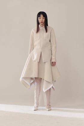 SWAYING 19AW 针织夹纱衬衫外套