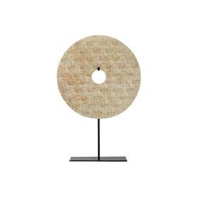 φ30万字纹玉壁加托(双面)WBH11090102 disk with stand